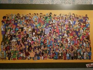 The Simpsons All Characters poster from the tv cartoon series