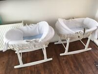 2 Moses baskets for sale will sell separately