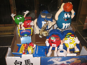 M & M Collectible dispensers - various 25 - 35 dollars