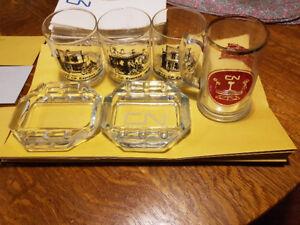 CNR Memorabilia Glassware Canadian National Railway