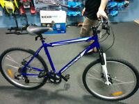STOLEN: Blue Norco Mountaineer Mountain Bike, White Front Fork