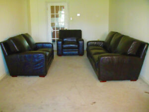 Supper Comfortable High End All leather Sofa Set, Delivery Avail
