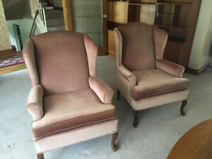 Wing back chairs- pair