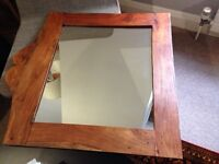 Medium sized wooden frame mirror