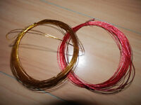 Golden and red wires for arts and crafts hobbies UNUSED