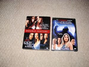 I KNOW WHAT YOU DID LAST SUMMER DVDS SET FOR SALE!