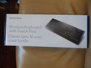 BRAND NEW INSIGNIA WIRELESS KEYBOARD AND TOUCH PAD.