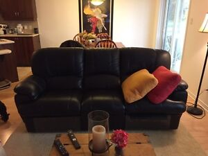 Faux leather couch and armchair set West Island Greater Montréal image 1