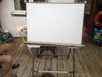 Architect drawing board metal framed