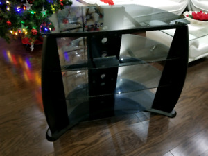 TV stand - 3 tier glass