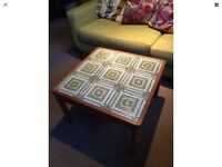 Danish Art Tile Coffee Table by TRIOH 1975