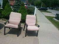 6 patio chairs with cushion $80obo