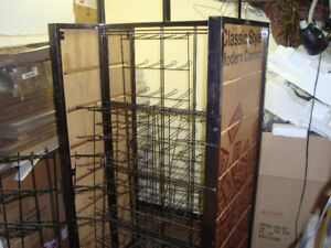 Mobile Retail store rack on wheels with wire racks
