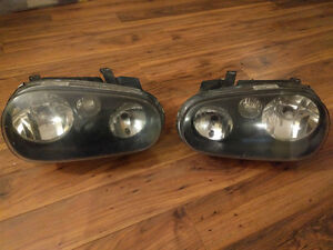 Mk4 Golf Blacked-Out Headlights
