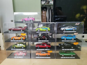 Fast and the furious greenlight with display case mint