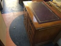 Leather top filing cabinet