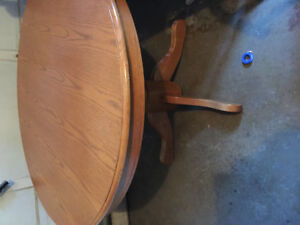 Hardwood table and 4 matching chairs