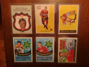 Lot de cartes de hockey vintages !