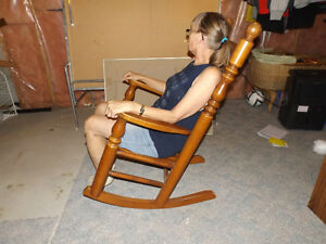Large Wooden Rocking Chair