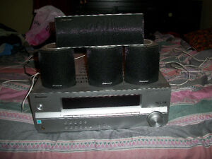 Pioneer Receiver with 4 Speakers and a Subwoofer for sale