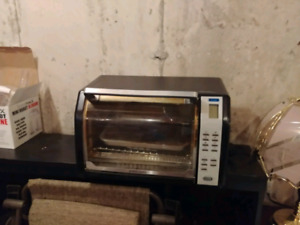 Toaster oven, freezer and microwave