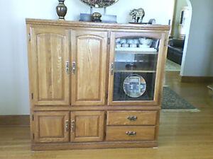 Solid Oak Storage Unit  -- Mint Condition !!!