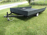 "Solid Utility Trailer 12'X6'4"". Totally rebuilt. Must See"
