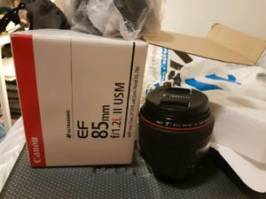 Canon 85mm f/1.2 mark ii