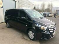 17 MERCEDES VITO 111 CDI LONG WHEEL BASE IN BLACK,1.6 D,75K,A/C,CRUISE