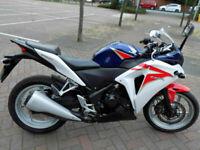 Honda CBR250R Supersprt 2012 19k FSH MOT blue/white HPI clear,MOT p/ex £99 depos