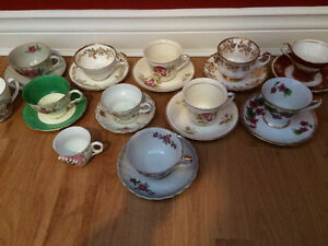 Cups,saucers and teapots