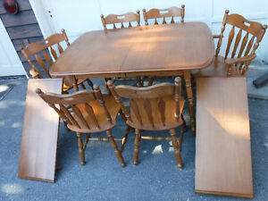 Roxton Maple Dining Table & Six Chairs Cambridge Kitchener Area image 1