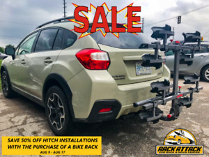 50% OFF Trailer Hitch install with purchase of hitch bike rack