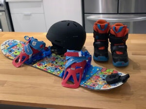 BURTON snowboard kit for 3-5 year old