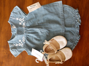 New Carters Jean bloomer outfit
