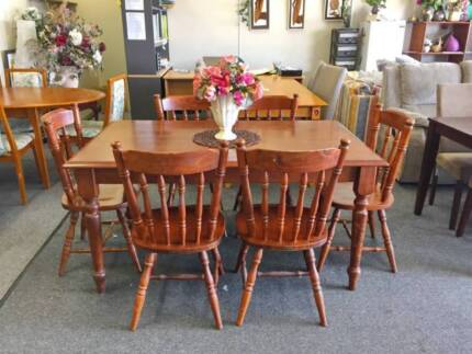 DELIVERY TODAY STRONG 7 pcs SOLID WOOD dining table QUICK SALE Perth Region Preview