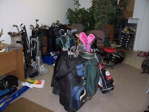 Golf balls, clubs, carts and sets of clubs