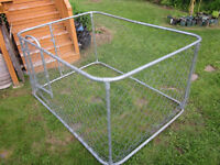 Outdoor dog enclosure / kennel - 7 feet by 5 feet
