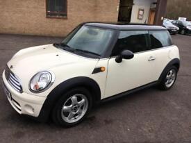 0707 Mini Mini 1.6TD Cooper D White 3 Door 83792mls MOT 12m £30 Road Tax