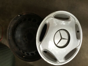 Mercedes steel wheels, and wheel covers