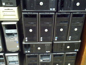Dell Core2Duo and Quad machines, parts missing, many available.