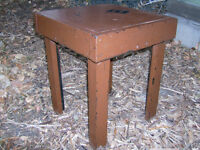 1940's Vintage Side Table painted wood