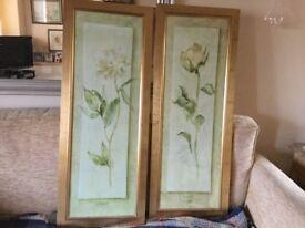 John Lewis ,framed , glazed Prints ...Rose and Peony