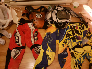 dirtbike gear with pricetags