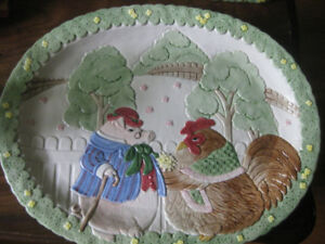 Serving pieces - Fitz and Floyd whimsical china