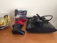 PS3 2 controllers 500gb