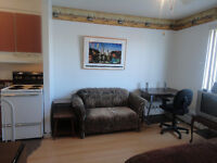 STUDIO FULLY FURNISHED (internet inclus )NO SMOKING Short t $550