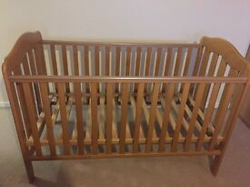 Immaculate condition wooden Cot