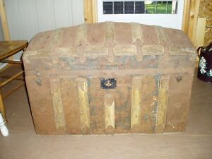 Dome Top Antique Steamer Trunk