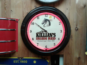 Killian Beer Neon Clock